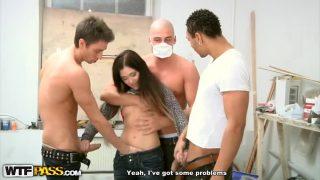 Gnagbang Sex Girl At The Construction Film