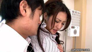 Japanese Julia Nanase Fucks Two Dudes