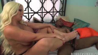 Alura Jenson In Foot Fetish Interracial