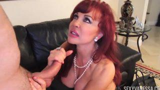 Redhead Latina Sexy Vanessa Sucks Ralph Longs Cock